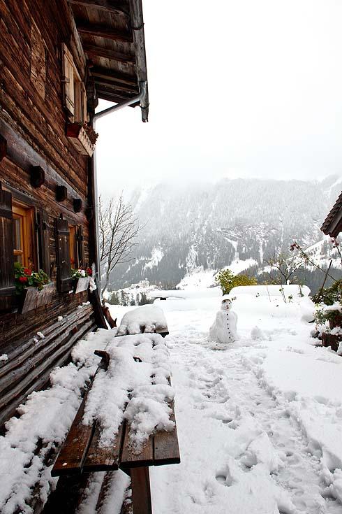 Schnee sinnvoll genutzt.