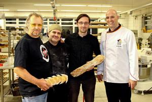 Lutz unter Meistern: Bäcker Kapp, Josep Pascual, ich, Bäcker Kütscher