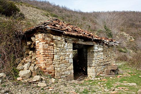 Verfallene Mühle.