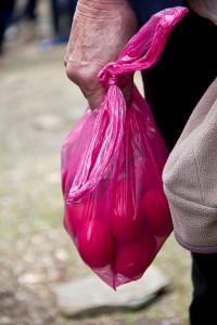 Die Osterei-Ausbeute: Wir Gäste wurden besonders reicht beschenkt.