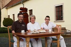 Martha, Lukas und ich.
