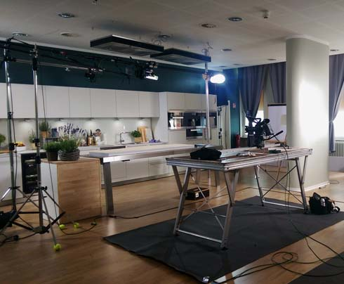 Das Set in Berlin.