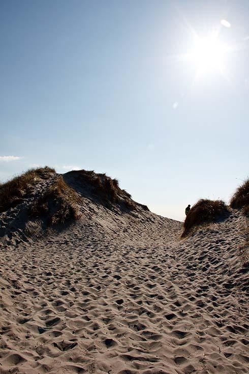 Menschenleere Sandstrände an der Küste bei Stavanger.