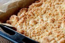 Streuselkuchen ohne Backhefe (Sauerteigkuchen)