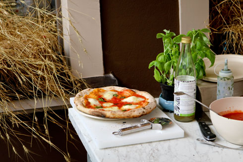 Eine reine Sauerteigpizza... richtig gut