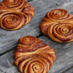 Dinkel-Franzbrötchen und Kakaoschnecken