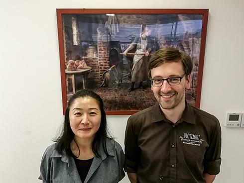 Tomoko, meine Übersetzerin und Organisatorin, und ich.