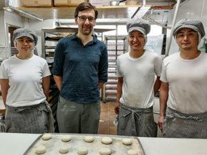 """Die drei Bäcker der """"Tanne""""."""