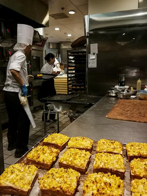 Schaubäckerei eines französischen Kochs.