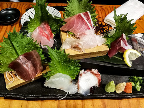 Sashimi zum Abendessen