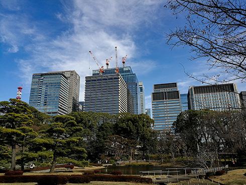 Auf Wiedersehen Japan: Blick aus dem Garten des Kaiserpalastes in Tokio