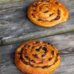 Pain aux raisins und (Laugen-) Croissants (Vollkorn und hell)
